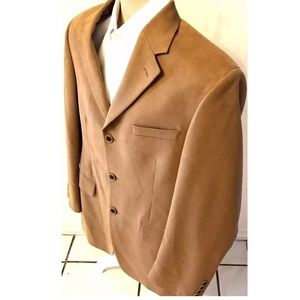 Andrew Fezza Fusion Brown 40SH Sport Coat Suede